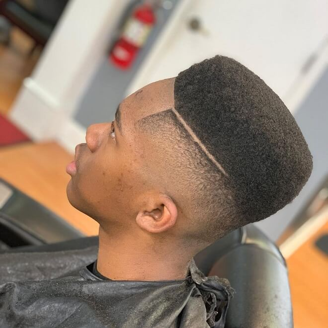 High Box Cut with Deep Side Part