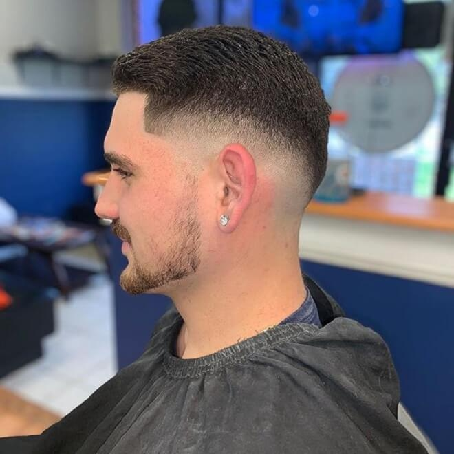 High Drop Fade with Short On Top