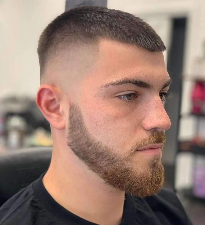 High Fade with Crew Cut