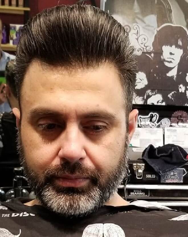High Pompadour with Thick Hair
