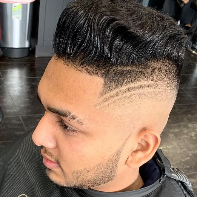 High Skin Fade Haircut with Curls
