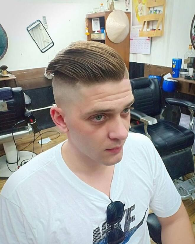 High Skin Fade with Slicked Back