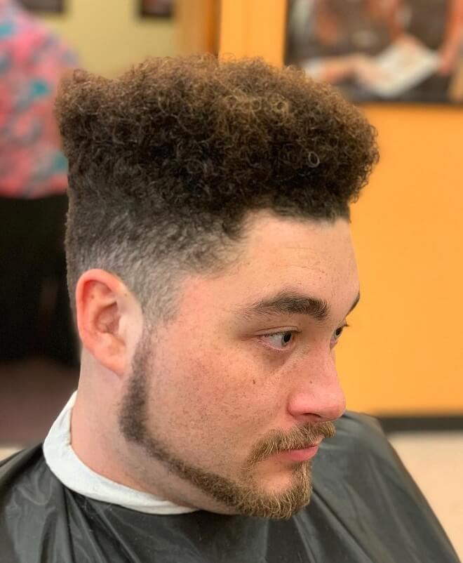 High Top Fade with Taper Side