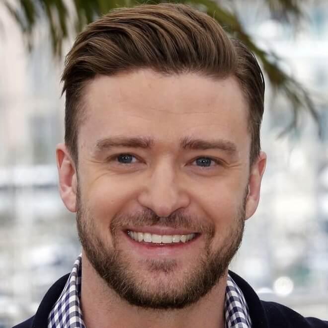 Justin Timberlake Side Part Hairstyle