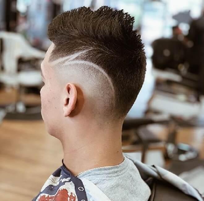Line Design Haircut
