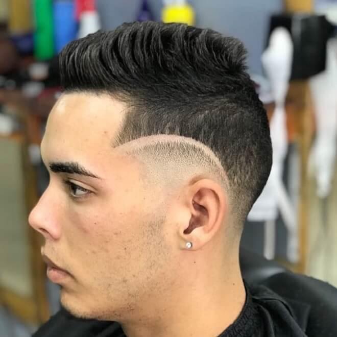 Line Haircut with Short Hair