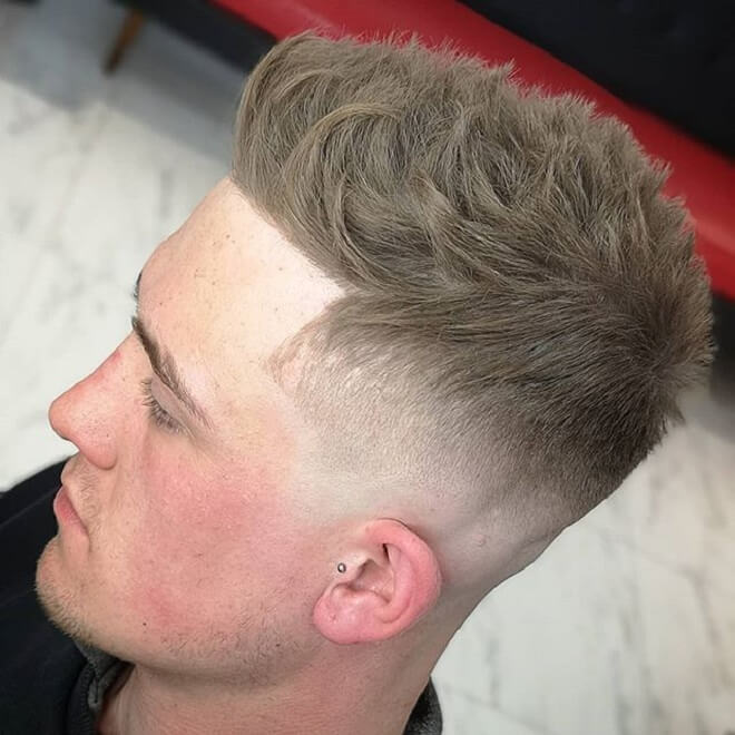 Line Up Cut with Textured Spiky Hair
