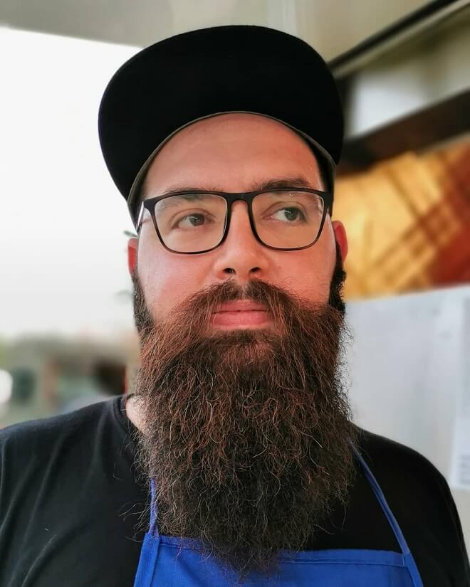 Long Bushy Beard with Mustache