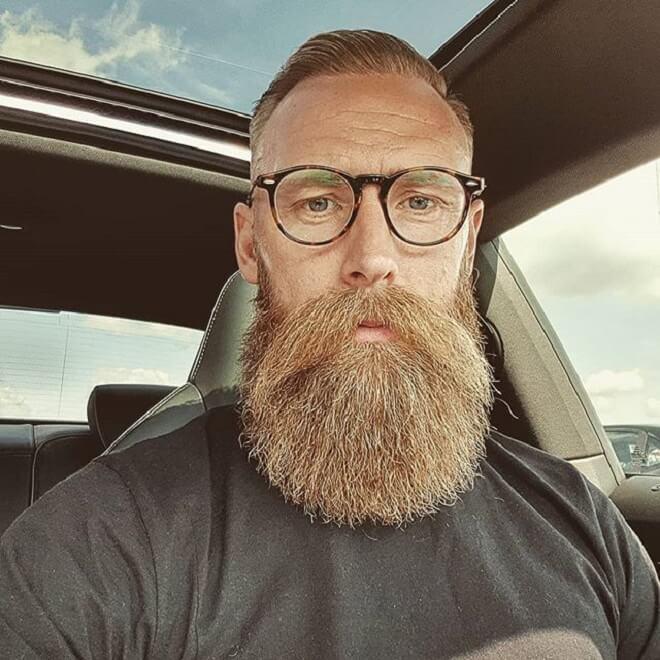 Long Mustache with Full Beard