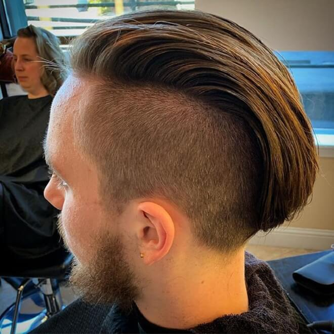 Long Slicked Back with Undercut