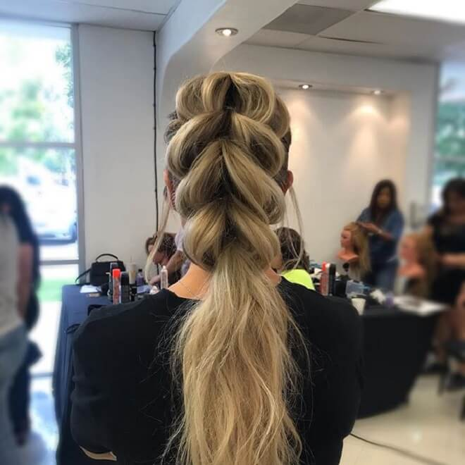 Loose French Braids with Ponytail