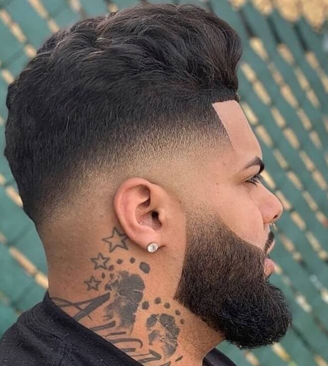 Low Fade with Line Up Haircut