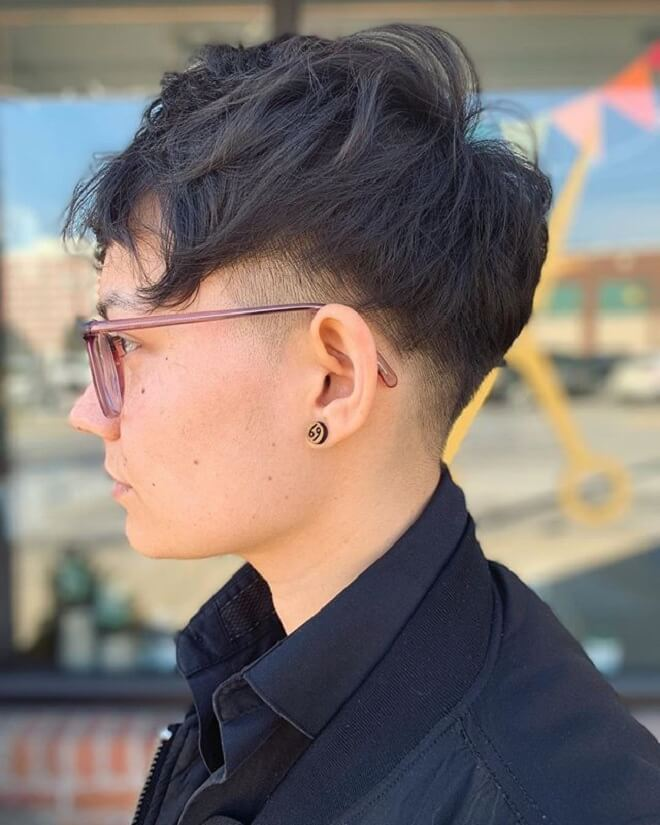 Low Fade with Short Messy Hair