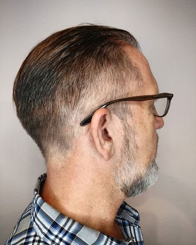 Low Fade with Slicked Back