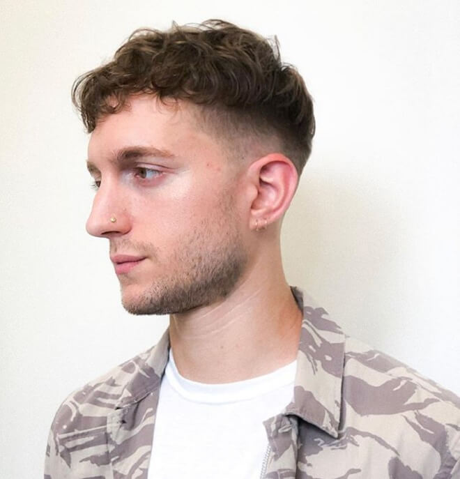 Low Fade with Textured Messy Hair
