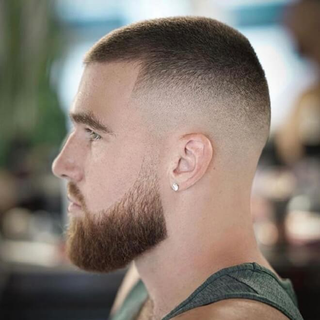 Low Skin Fade with Buzz Cut