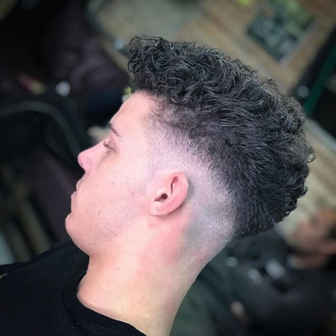 Low Skin Fade with Short Curly Hair