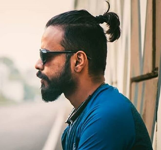 Male Short Ponytail