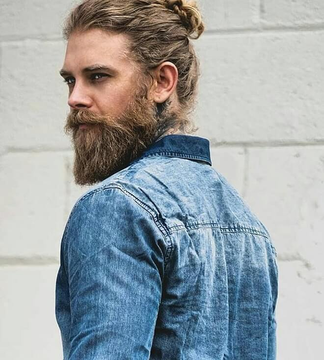 Man Bun with Beard Style
