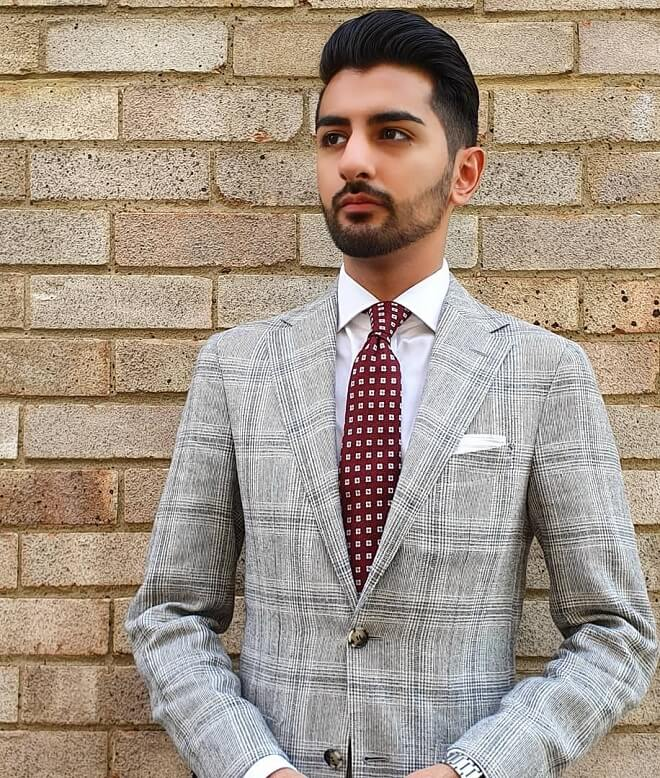 Men's Wedding Hairstyle with Beard Style