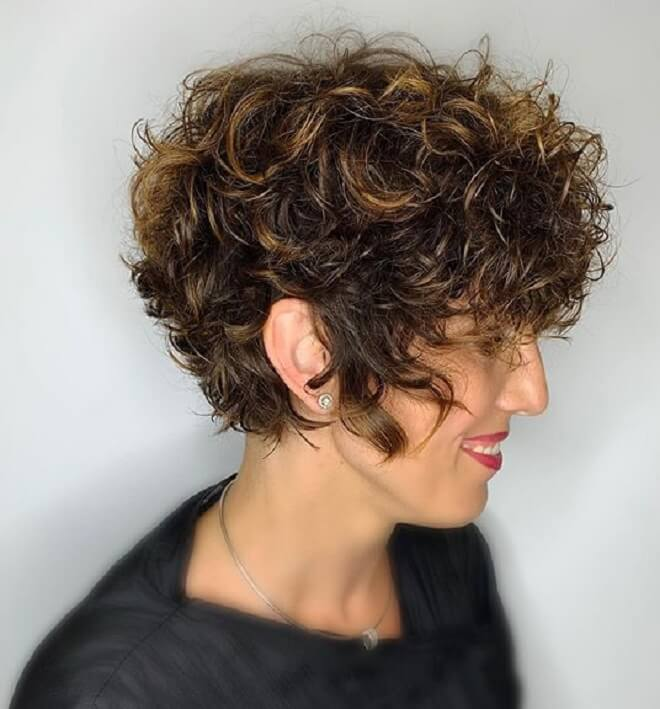 Messy Curly Hairstyle