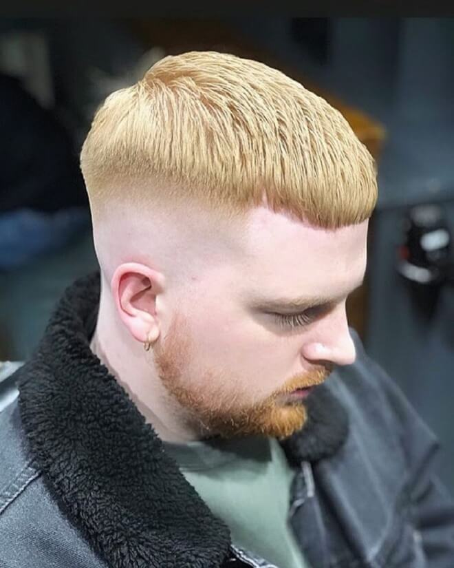 Mid Bald Fade with Crop Cut