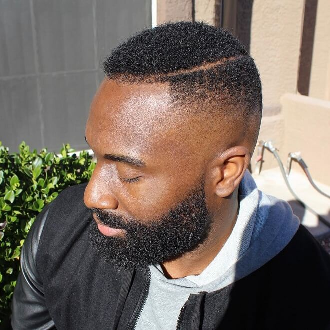 Mid Bald Fade with Short Curly Hair
