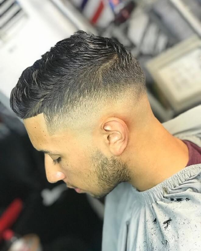 Mid Drop Fade with Short Hair