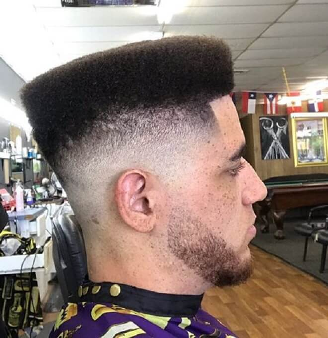 Mid Skin Fade with Flat Top