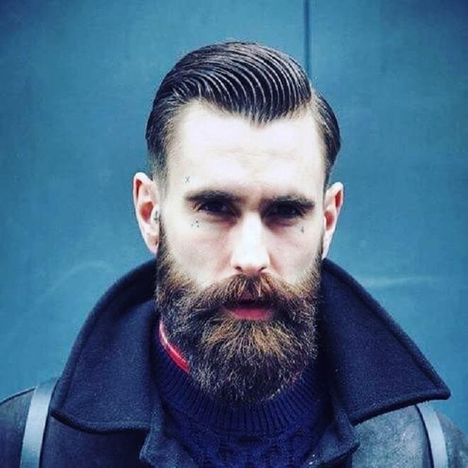 Mustache with Bushy Beard