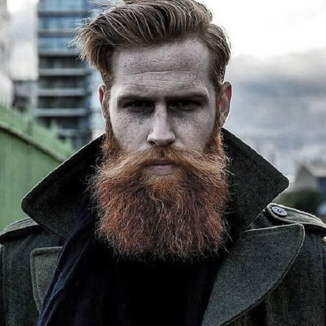 Mustache with Ginger Beard Man