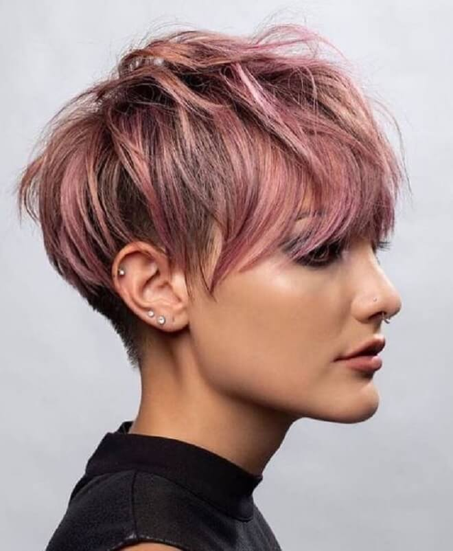 Pink Hairstyle For Girls