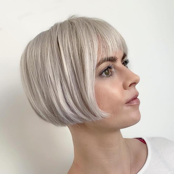 Platinum Blonde Haircut
