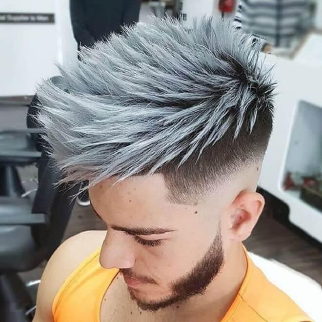 Platinum Blonde Textured Hairstyle