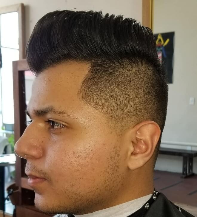 Pompadour Hairstyle with Taper Side