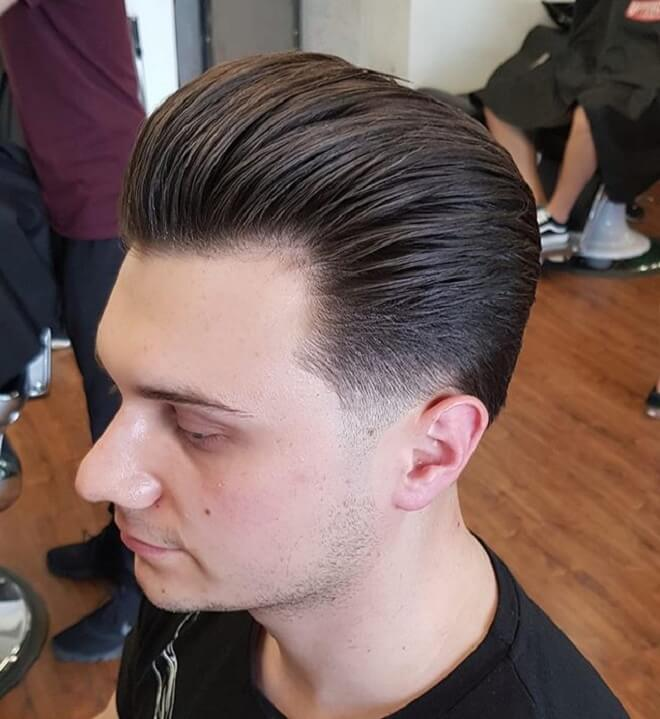 Pompadour Slicked Back Haircut