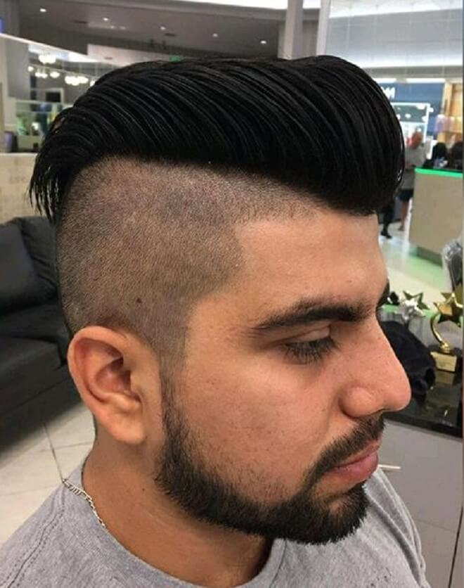 Pompadour with Skin Fade Haircut