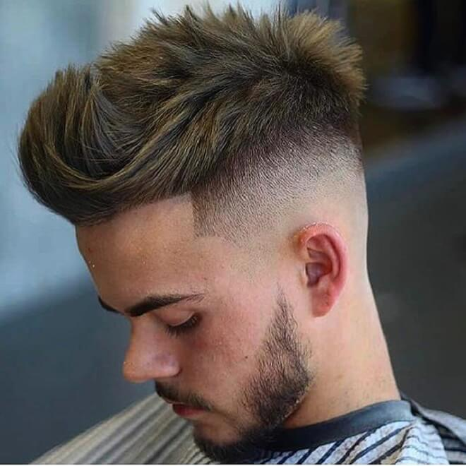 Quiff Haircut with Razor Fade