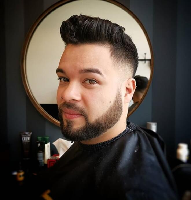 Quiff Hairstyle with Low Fade