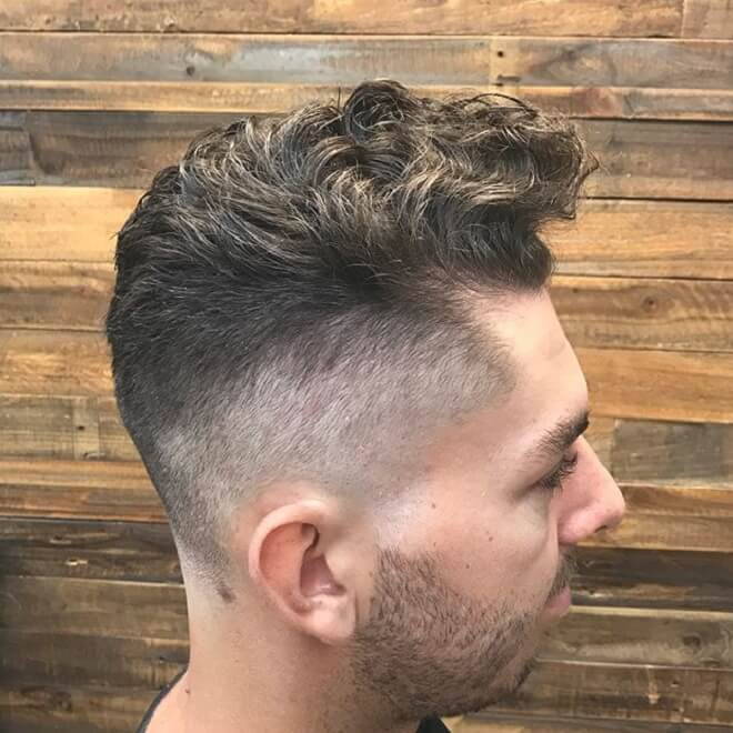 Quiff with High Skin Fade