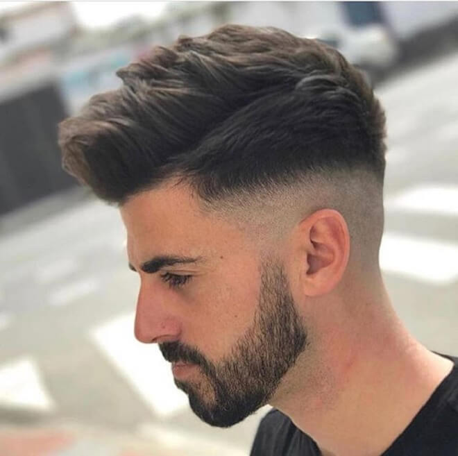 Razor Fade with Messy Spiky