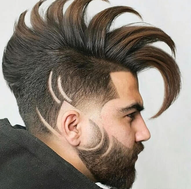 Sharp Fade with Long Layered
