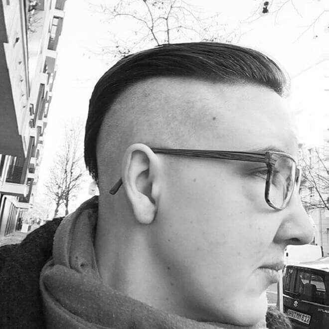 Shaved Side with Slicked Back
