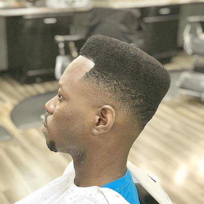 Short Box Fade Haircut with Low Fade