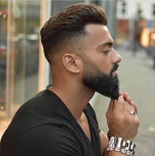 Short Haircut with Beard Style