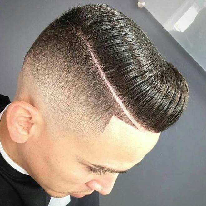 Short Haircut with Hard Part