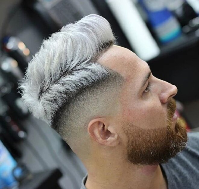 Short Haircut with Mid Skin Fade