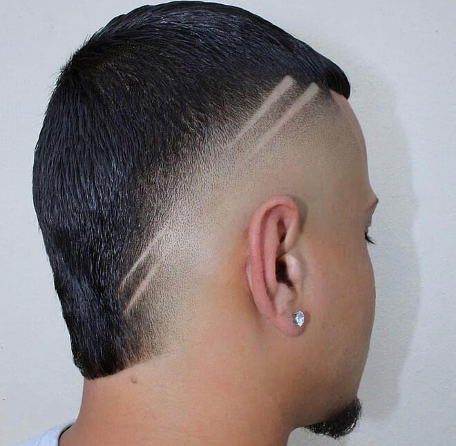 Short Mullet with High Fade