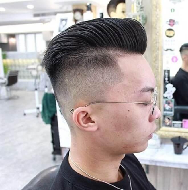 Short Pompadour with Shaved Side