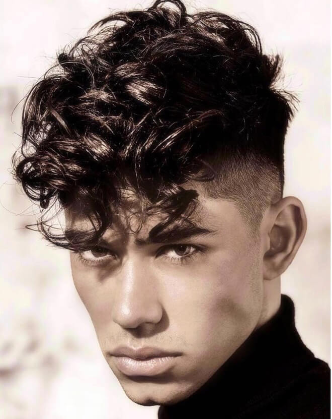 Short Sides with Curly Hair Top